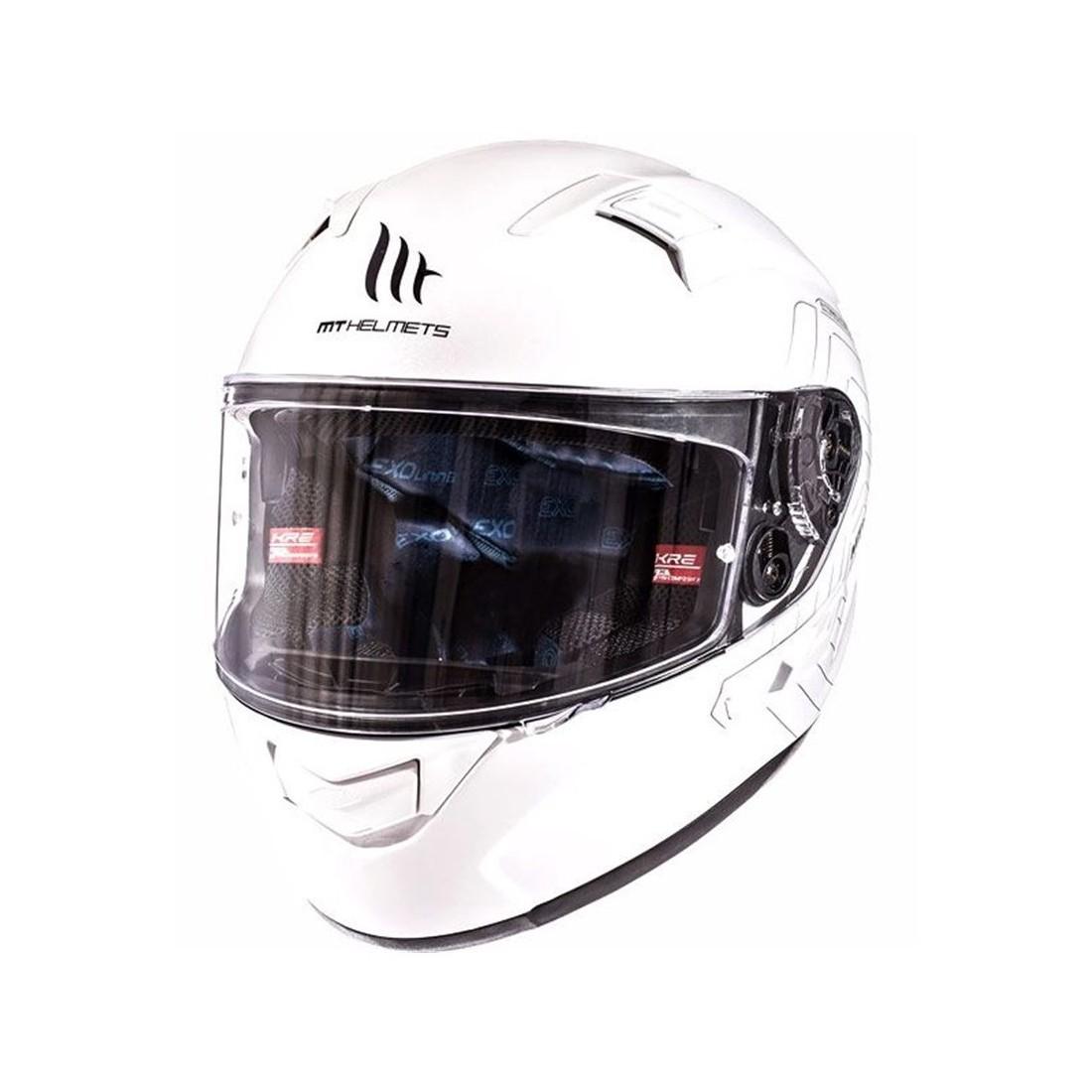 Casco MT FF103SV KRE SV Solid Blanco Perlado Brillo TALLA CASCO XS