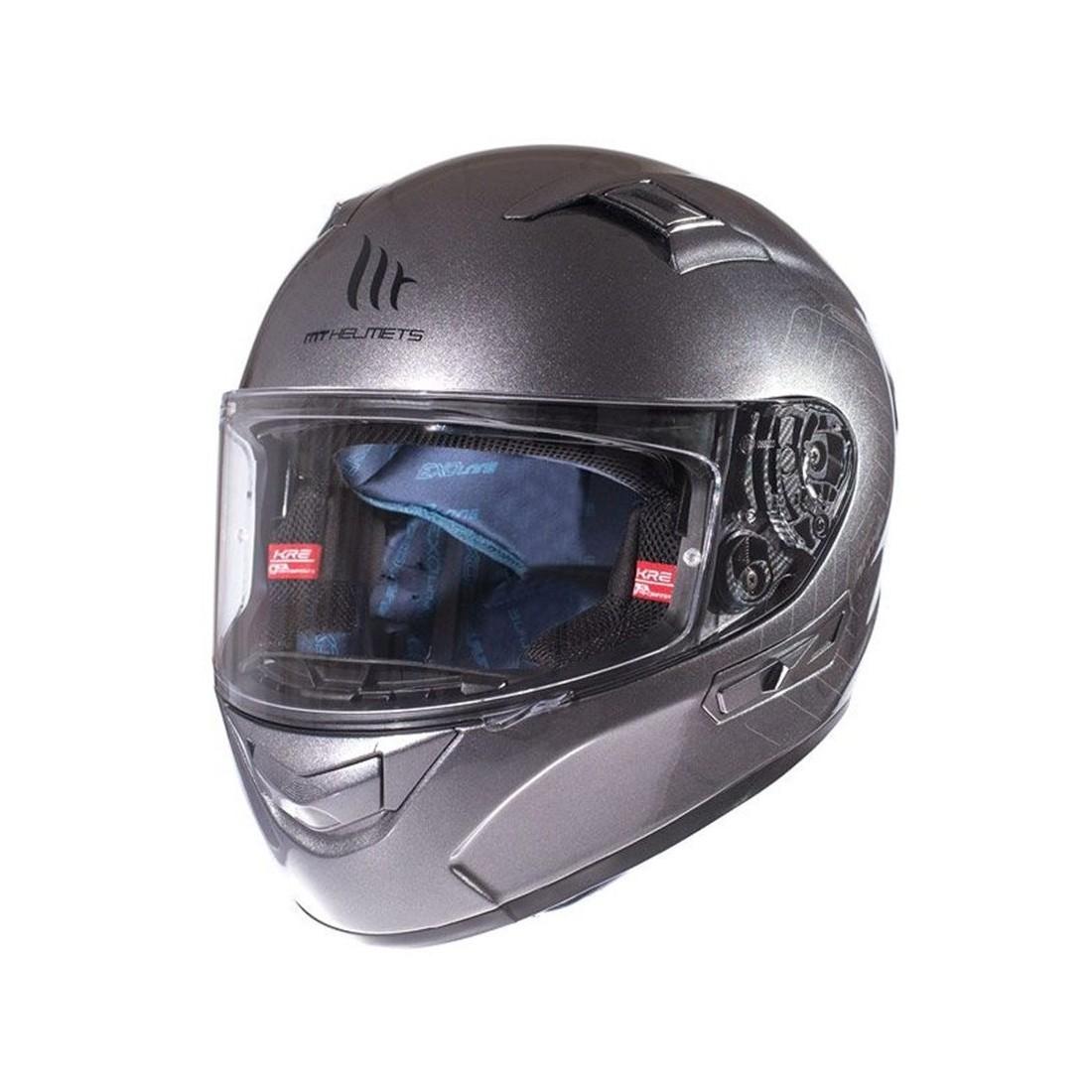 Casco MT FF103SV KRE SV Solid Titanio Brillo TALLA CASCO XS