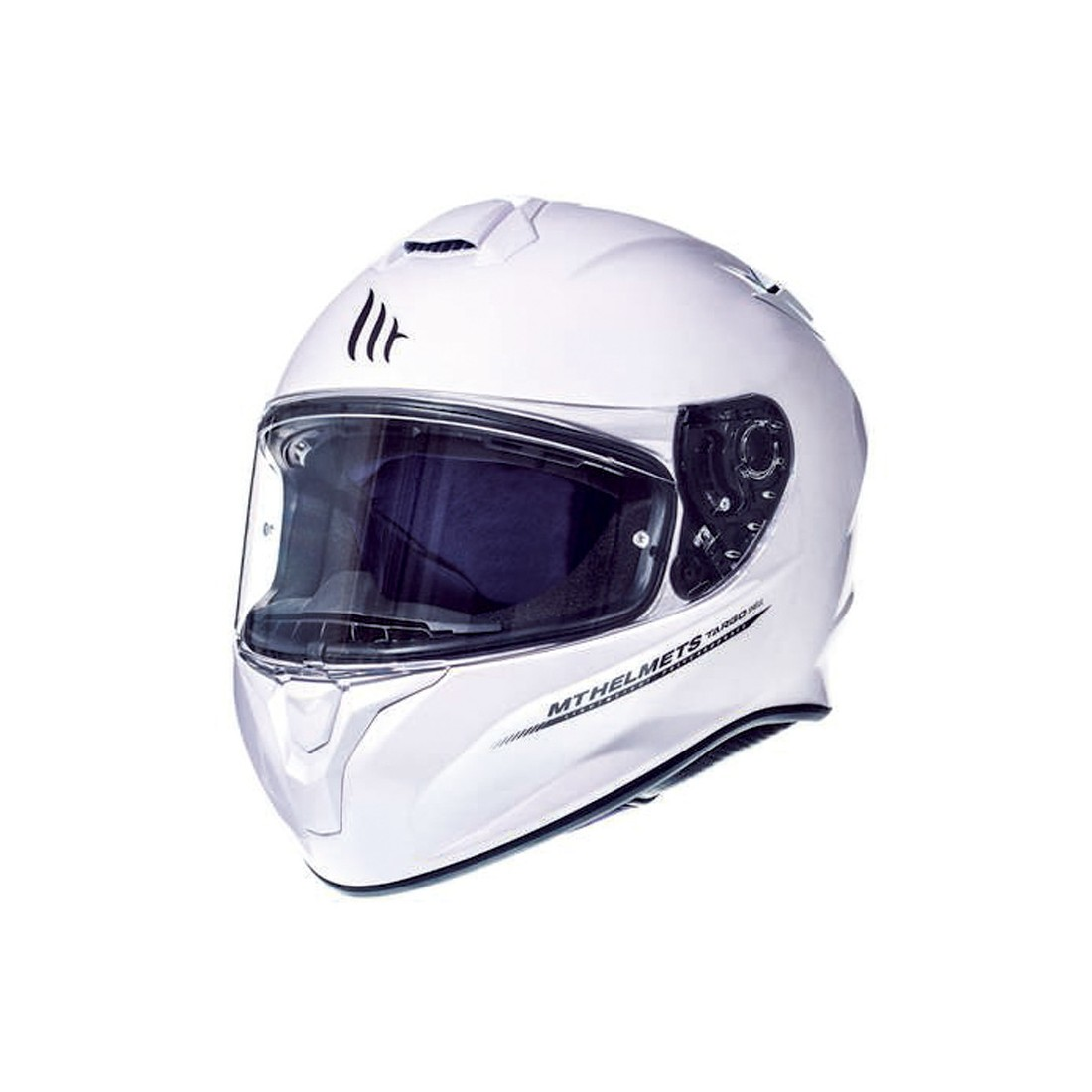 Casco MT FF106 TARGO Solid A0 Blanco Perla Brillo TALLA CASCO XS