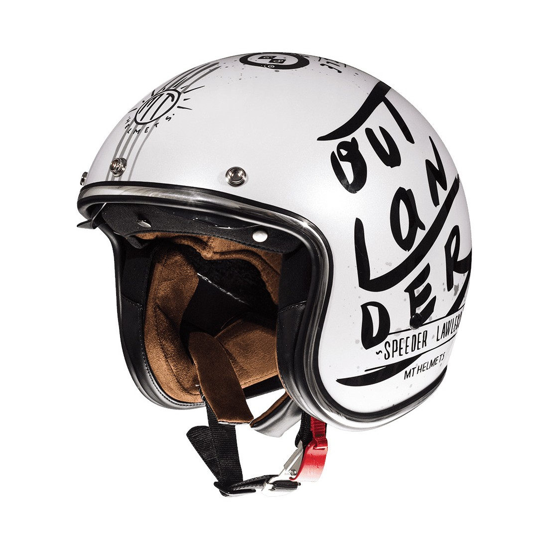 Casco MT OF507SV LE MANS 2 SV OUTLANDER A1 Blanco Perla Brillo TALLA CASCO XS