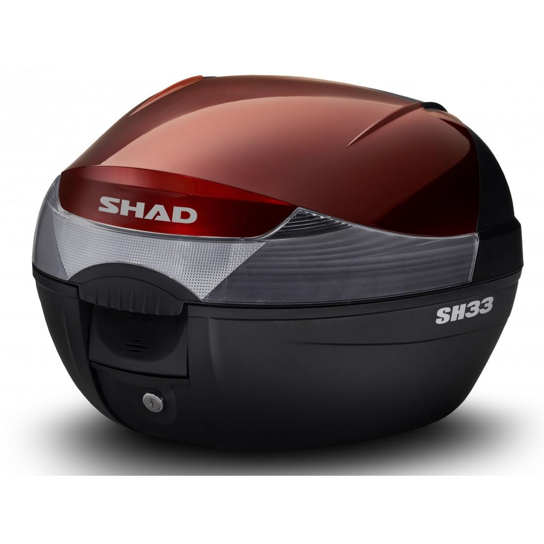 Tapa Baúl Shad SH33 33lt Rojo