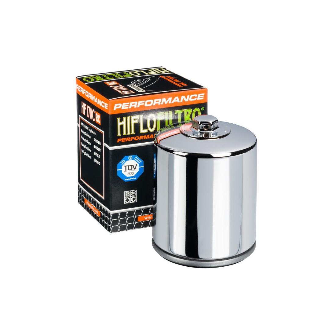 Filtro Aceite Racing Hiflofiltro HF170C Cromado
