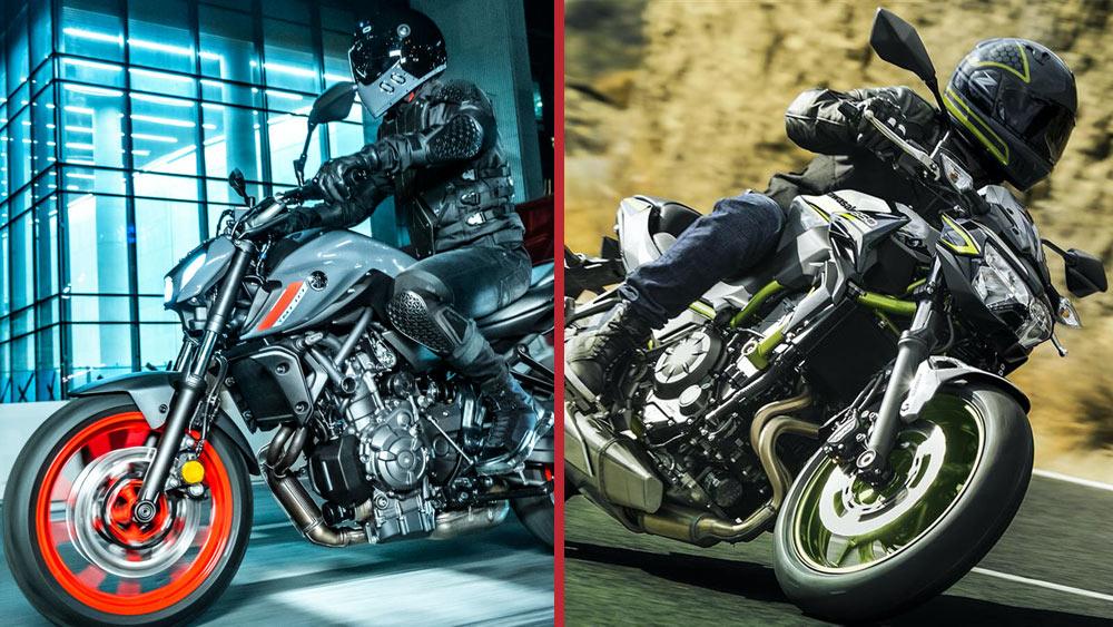 Comparativa Yamaha MT-07 y Kawasaki Z-650