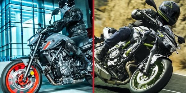 Yamaha MT-07 VS Kawasaki Z-650: ¡Cara a cara!